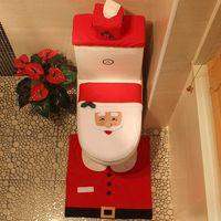 Wholesale Santa Claus Toilet Sets Three Sets Of Christmas Toilet Sets