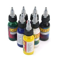 arts units - 7 Color Tattoo Inks Pigment Lining Shading Supplies Set Bottles Kits Body Art Tools ml oz Unit