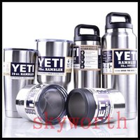 Wholesale YETI oz OZ oz oz oz Clear Lid Rambler Cups for Yeti Coolers Cup Sports Mugs Large Capacity Stainless