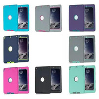 Wholesale 3 in Defender waterproof shockproof Robot Case military Heavy Duty silicon cover for ipad air ipad ipad mini