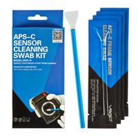 Wholesale Professional VSGO APS C Frame Sensor Cleaning Swab Kit Pack For DSLR Camera Sensor Lens Phone Screen Keyboard and Glasses