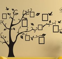 adhesive photo frames - 1pcs X Large Room Photo Frame Decoration Family Tree Wall Decal Sticker Poster on a Wall Sticker Tree Wallpaper Kids Photoframe Art Y133