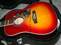 Guitare acoustique Burst Cherry personnalisée EN STOCK Guitare chinoise Chaque jour favorable, double 11 chaque jour Livraison gratuite