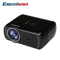 Machines à sous vidéo France-Vente en gros-Excelvan EHD01 Projecteur LED 1500 Lumens 800 * 480 pixels avec AV / Audio / HDMI / VGA / USB / SD Card Slot Vidéo Home Theater Beamer