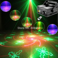 Projecteur projecteur laser party Prix-Vente en gros- Nouveau Mini RG 40 Patterns Projecteur Laser Bleu Led Gobo Remote DJ éclairage Montrer Disco Xmas Dance Home Party Lumière de scène Show L40
