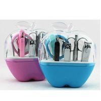 apple suppliers - Guangzhou Supplier Apple Case set Nail Manicure Set Tools Clipper Kit Set Pedicure Scissor Tweezer Knife Ear Pick Utility Manicure Kit