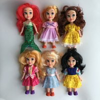belle fingers - Hot Sale quot Girls Gift Princess Rapunzel Aurora Belle Cinderella Doll Toy Mermaid Snow White Doll For Girls