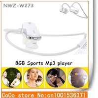Venta al por mayor-2015 NWZ-W273 más calificados Sports Mp3 player para sony 8GB W273 Walkman Running auricular Mp3 player - 8 colores En Stock