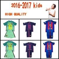 Wholesale SUAREZ Jerseys kids Camisas Purple Neymar Messi INIESTA PIQUE Soccer Jersey Camiseta de futbol kids