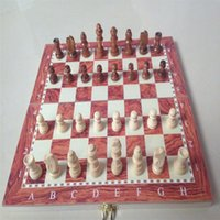 Wholesale 1 Set Classic Thick Wood Sheet Imitation Ruby Foldable Wooden Chess Game