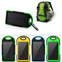 Wholesale Universal mAh Solar Charger Waterproof Solar Panel Battery Chargers for Smart Phone PAD Tablets Camera Mobile Power Bank Dual USB DHL