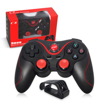 Contrôleur bluetooth android gamepad Prix-Terios T3 Wireless Bluetooth Gamepad Joystick Game Gaming Controller Télécommande pour Samsung S6 S7 HTC Android Smart Phone Tablet TV Box