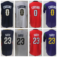 Men basketball jersey styles - 2017 New Style Anthony Davis Jersey Men Basketball DeMarcus Cousins Jerseys All Stitched High Quality Navy Blue White Red Purple