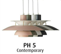 Wholesale New Painted Aluminum Chandeliers Lustres De Cristal Ph5 Pendant Lamp Loui Suspension Chandelier for Dining Room