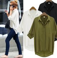 Wholesale Blouses Shirts Women Tops Blouses New Fashion Vintage Casual Chiffon Women Shirts Femme Ladies Tops Blusas Femininas Womens Clothing Apparel