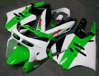 Nouveau vélo ABS Kits de carénage Fitment pour KAWASAKI Ninja ZX9R 1994 1995 1996 1997 ZX-9R 9R 94 95 96 97 Ensemble de carrosserie sympa noir blanc vert