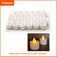 Wholesale Set of box Flameless LED Tealight Tea Candles Light Battery Operated for Wedding Birthday Party Christmas Xmas