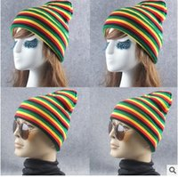 Wholesale new design fashion color anti edge knitted hat fluorescent warm wool hat for women and men winter hats