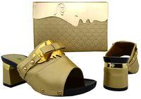 african bag designers - Elegant Italian Women Shoes and Bag Set Designer Gold African Shoes with matching bag for Woman Wedding Shoes and Bag