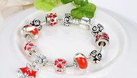 abalone food - Valentine s Day Gifts Snowflake Charm Bracelet Bangle European Beads Bracelets For Women Diy Jewelry Christmas Gift