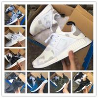 al por mayor tapas netas-(Con la caja) Zapatos corrientes superficiales nítidos de calidad superior del nuevo de la llegada NMD XR1 del pato Camo de la marina de guerra del verde blanco del ejército de calidad superior para los hombres Envío libre