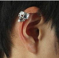 alchemy gothic skull - NEW ALCHEMY SILVER SKULL CARTILAGE EAR CUFF CLIP ON EARRING GOTHIC PUNK ROCK