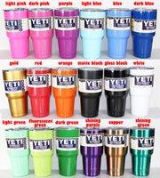 Wholesale 19 colors YETI Rambler Tumbler Cup Purple Pink Blue Light Blue Orange Light Green Red Black Tumbler Mug IN STOCK