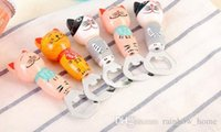 Wholesale New Arrive Cartoon Cat Bottle Opener Dining Room Furniture Hand painted Cartoon Cats Bottle Opener