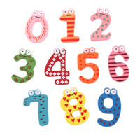 Wholesale New Cute Wooden Fridge Magnet Number Kids Educational Toy MultiColor