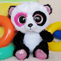 big green panda - Baby toy ty Stuffed Plush panda toy quot Stuffed Plush toy Big Crystal Eyes Gift for Children Baby Doll Classic Toys