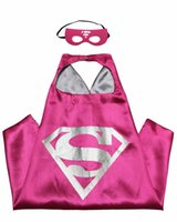 Wholesale Superhero Capes and Masks L70 W70cm Kids Capes Double Layers Spiderman Cape Christmas Halloween Cosplay Costumes Great For Children Gifts