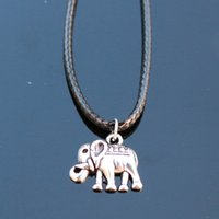 Wholesale N795 Lucky Elephant Pendant Necklaces Bijoux Collares For Women Men Punk Animal Necklace Fashion Jewelry NEW