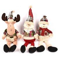 best decoration games - 20 Inch cm Kawaii Brinqu Xmas Plush dolls toys Santa Claus snowman deer Plush toys Christmas Decoration Christmas toys best Gifts