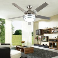 Wholesale Modern Led inch Iron Blade Ceiling Fans With Lights Bedroom Dining Room Decorative Fan Lamp Remote Control Ventilador De Teto