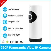 Wholesale 720P HD Wireless Mini IP Camera Fisheye CCTV Camera Degree Cam Wide View Panoramic Security Video Camera