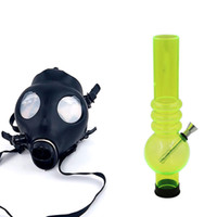 ash mask - 17 inch Gas Mask with Water Pipe Sealed Acrylic Hookah Pipe Silicone Mask Beaker Bongs Smoking Filter Tobacco Pipes Ash Catcher Perc