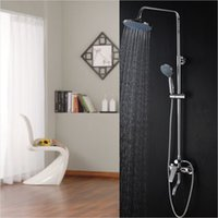 Wholesale HS Shower System Wall Mounted Bathroom Shower sets Made of Brass Five Function Handheld Rain Shower System Brand New