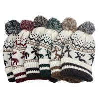 Wholesale 2016 High Christmas Day Qualitychirmas New Band Hat Sweater Fashion Hats New Design Caps in winter
