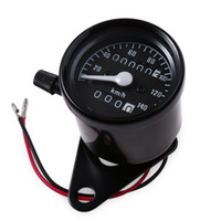Wholesale 2017 Motorcycle Universal Dual Odometer Speedometer Gauge Speed Meter Night Light LED Backlight Modification Part V km h