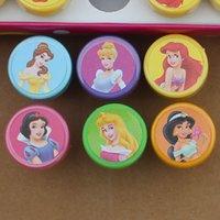 Wholesale Kids Stamp Princess Cartoon Stamp Children Custom Plastic Rubber Self Inking Stampers Toys