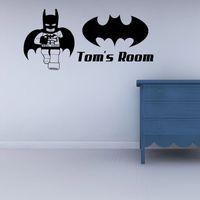 batman wall decal - 2017 Hot Sale Personality Lego Superhero Batman Childrens Living Room Bedroom Wall Sticker Creative Wall Art Decal Diy