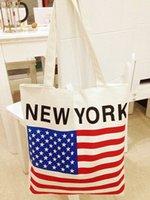american flag shop - American flag Printed Casual Tote Fashion Women Canvas Beach Bag Female Canvas Handbag Daily Use Single Shoulder Shopping Bags