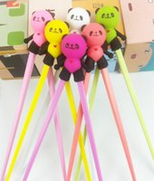 Wholesale Hot New Arrival Super Cute Colorful Panda Chopsticks Cartoon Design Children Kid Baby Early Education Tableware