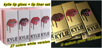 Wholesale kylie jenner Velvetine Liquid Matte Lipstick Lip Pencil Lip Gloss Set birthday limited edition gold lip Lipstick lip liner