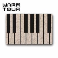 bedroom door key - WARM TOUR Custom Machine washable Door Mat Piano Music Key Indoor Outdoor Decor Rug Doormat23