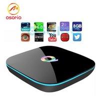 Q-BOX 2.4G + 5G Wi-Fi IPTV Bluetooth4.0 1000M Android TV BOX 2GB + 8GB Amlogic S905 Cuádruple núcleo KODI XBMC Android5.1 4K OTT Media Player