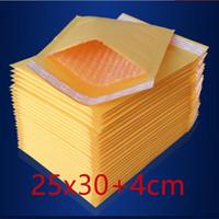 50 PC 250x300m m Fábrica del precio de fábrica Los altavoces al por mayor de la burbuja de Kraft de la alta calidad rellenaron los bolsos de envío de los sobres