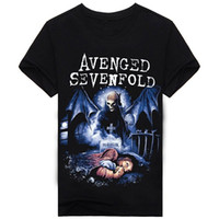 Crew Neck avenged sevenfold t shirts - Avenged Sevenfold Rock Band Cool Music new High Quality Cotton men s T Shirt cheap sell