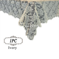 Wholesale 1PC Table overlay quot Lace overlay for weddings Lace tulle Fabric Table Cover Cloth table overlay of Wedding in Event Party Supplies