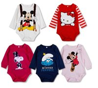baby clothes name brand - 2017summer infant toddler reborn baby boy girls name brand designer clothes rompers minnie mouse hello kitty sleeveless pure cotton m